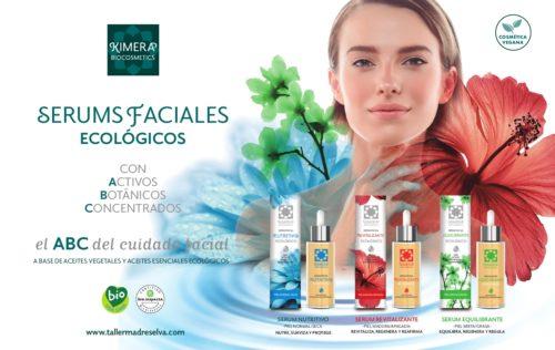 Gama de serums faciales ecológicos de Kimera Biocosmetics